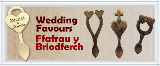 Welsh Love Spoons Wedding Favours